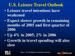 u s leisure travel outlook