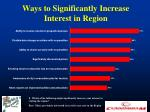 ways to significantly increase interest in region