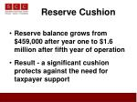 reserve cushion