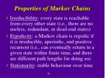properties of markov chains