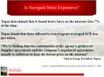 is navigant more expensive1