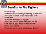 benefits for fire fighters