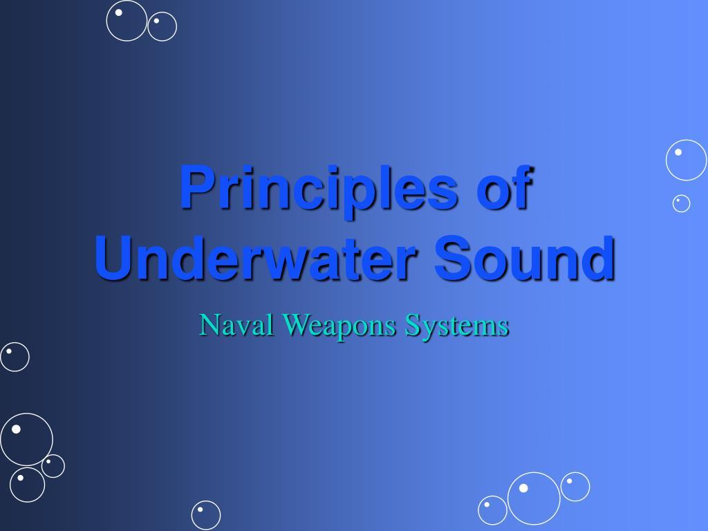 PPT - Principles of Underwater Sound PowerPoint Presentation