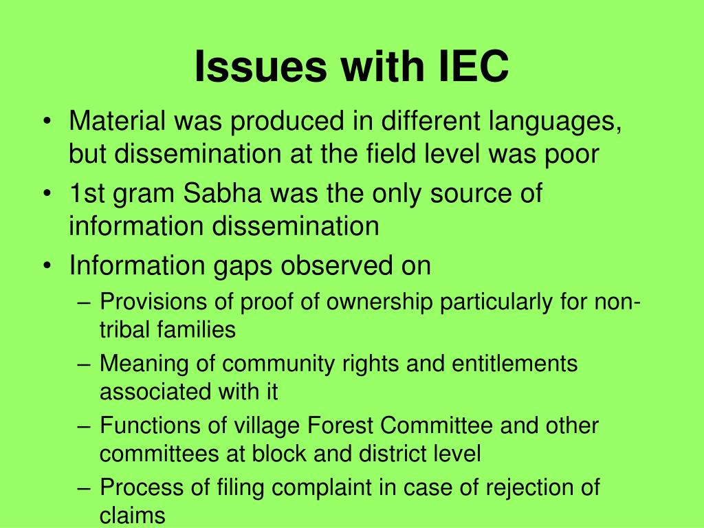 Issues with IEC