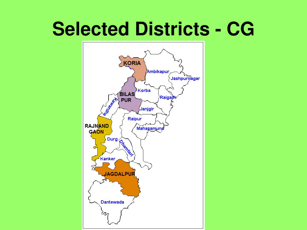 Selected Districts - CG