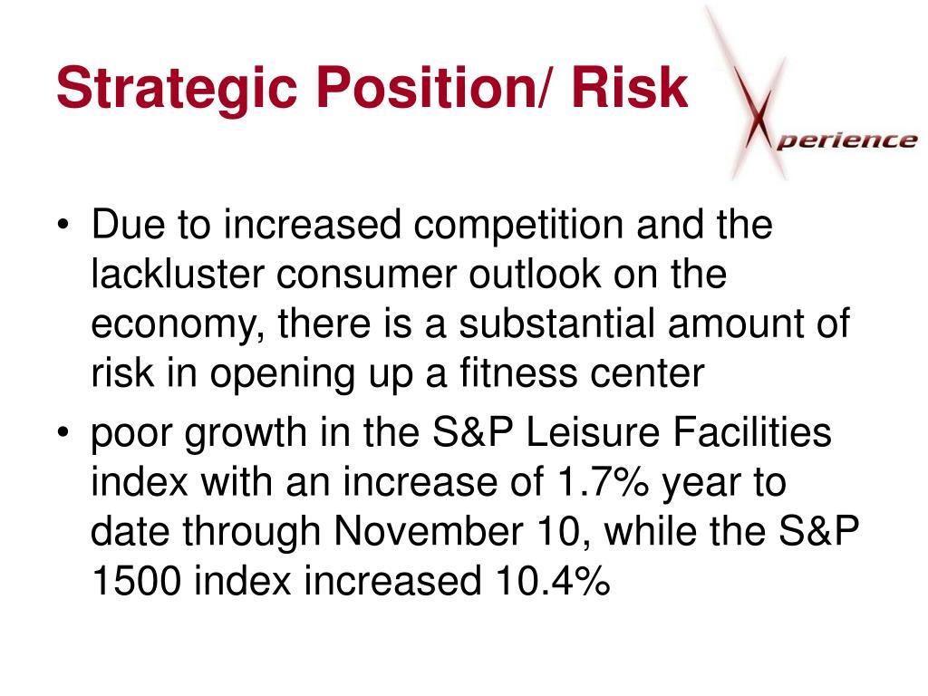 Strategic Position/ Risk