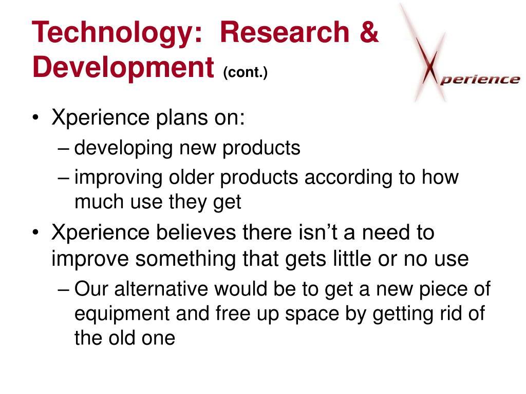 Technology:  Research & Development