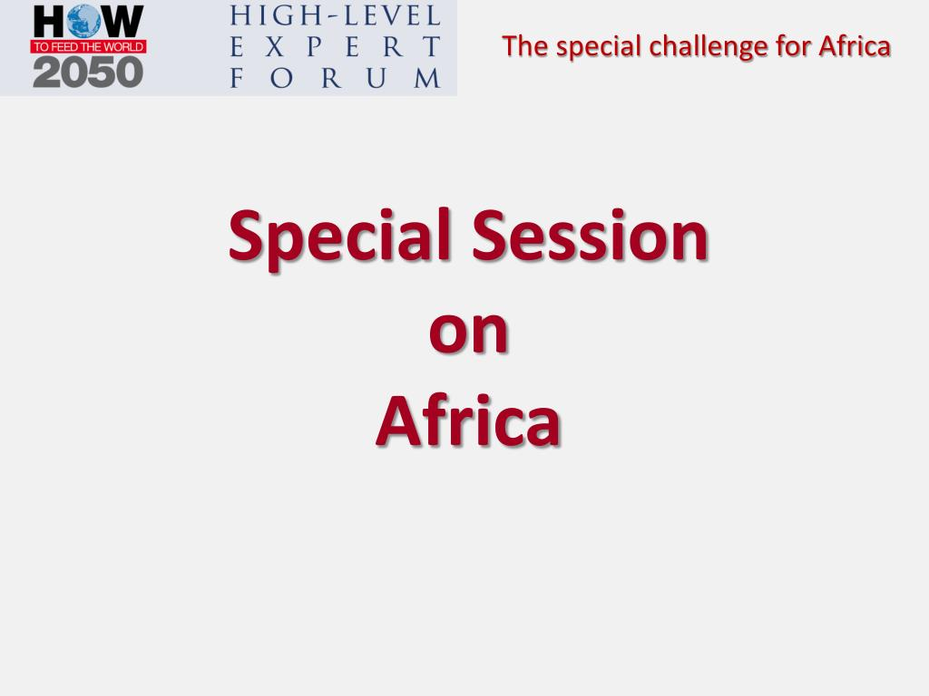 special session on africa l.