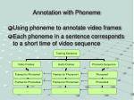 annotation with phoneme