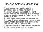 receive antenna monitoring