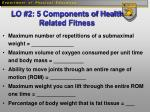 lo 2 5 components of health related fitness