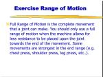 exercise range of motion