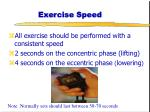 exercise speed