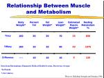 relationship between muscle and metabolism