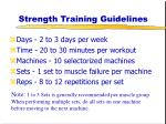 strength training guidelines