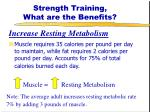 strength training what are the benefits