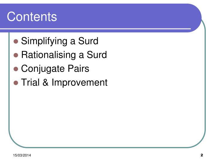 Ppt Week 9 Surds Powerpoint Presentation Id496397