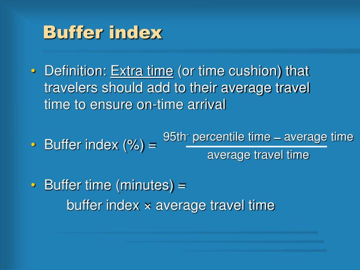Buffer index