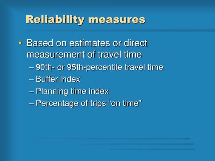 Reliability measures