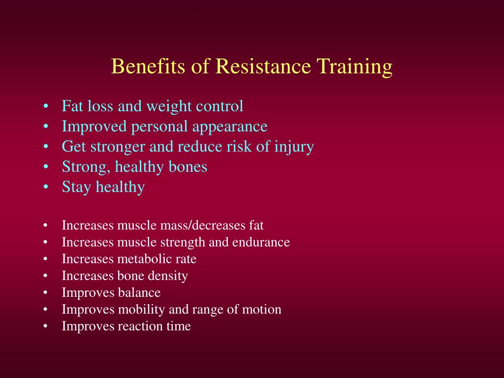 Benefits of Resistance Training