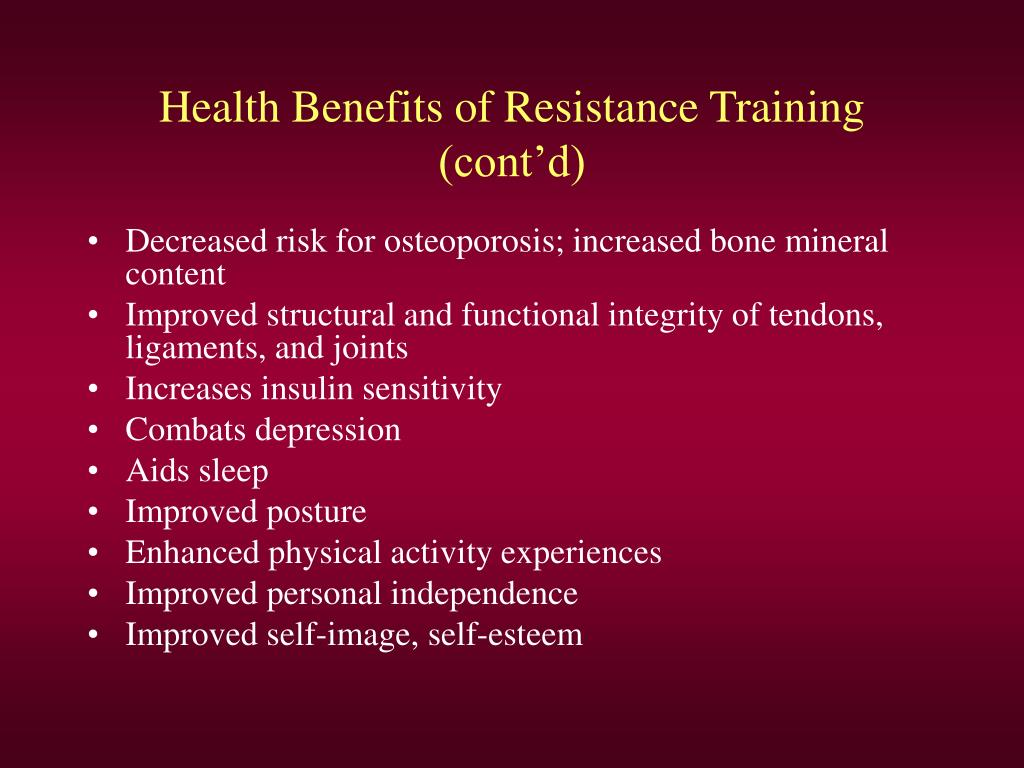 Health Benefits of Resistance Training
