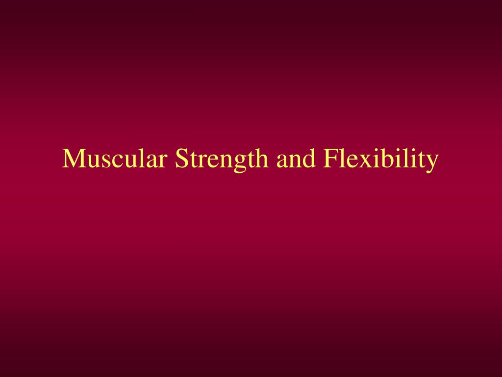 muscular strength and flexibility l.