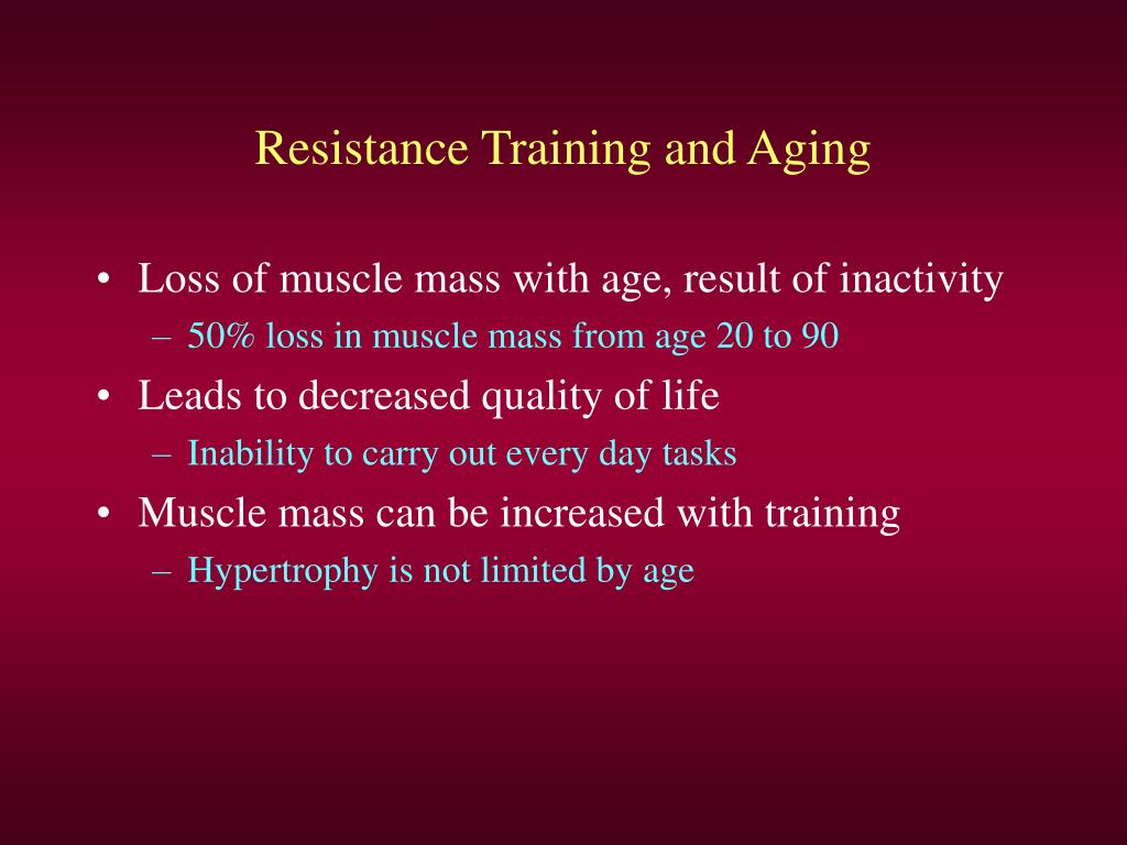 Resistance Training and Aging