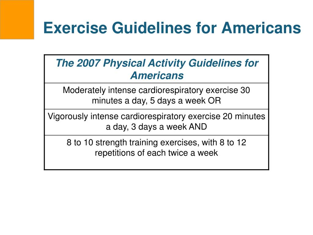 Exercise Guidelines for Americans