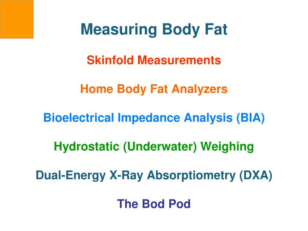 Measuring Body Fat