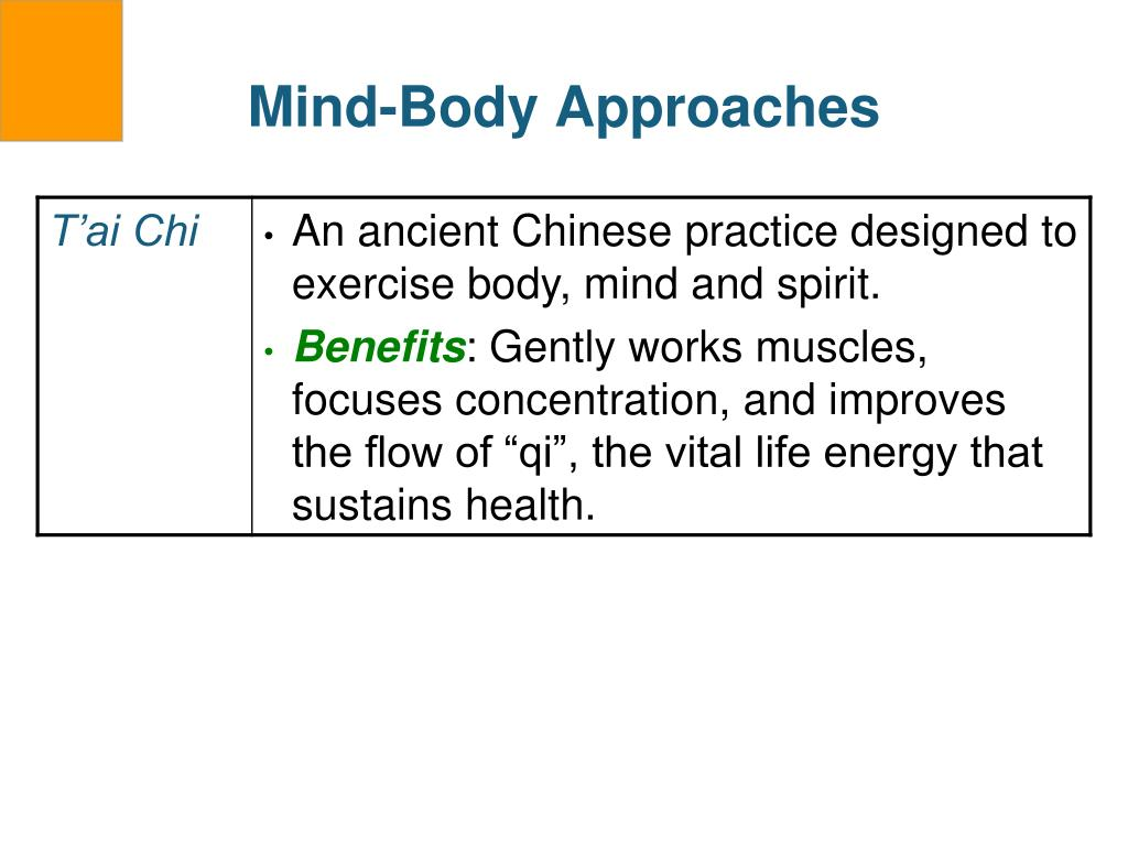 Mind-Body Approaches