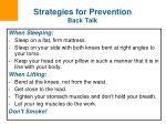 strategies for prevention back talk65