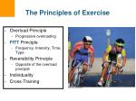 the principles of exercise
