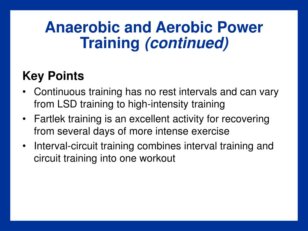 Anaerobic and Aerobic Power Training