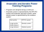 anaerobic and aerobic power training programs