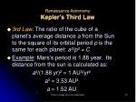 renaissance astronomy kepler s third law