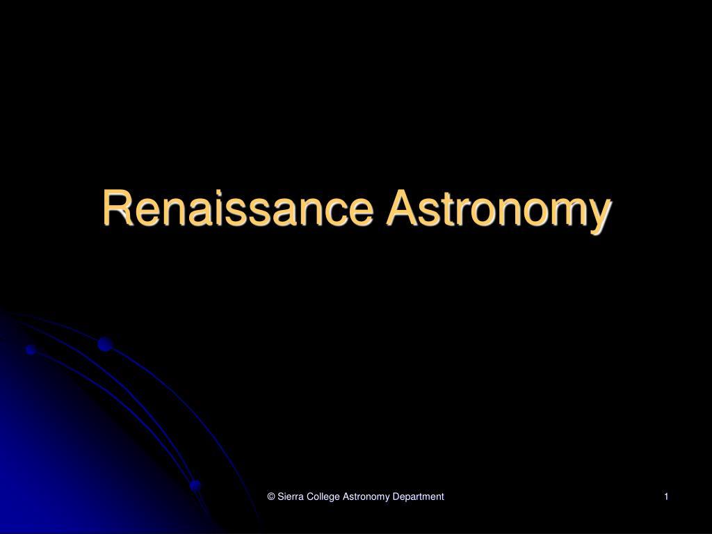 renaissance astronomy l.