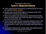 renaissance astronomy tycho s obserservations