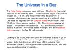 the universe in a day42