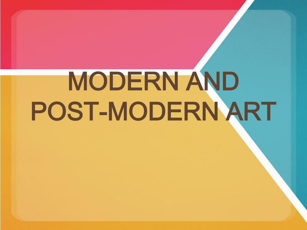 modern and post modern art l.