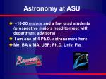 astronomy at asu