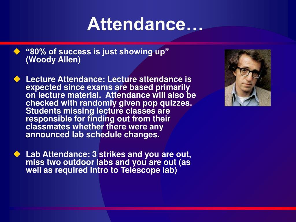 Attendance…