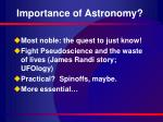 importance of astronomy