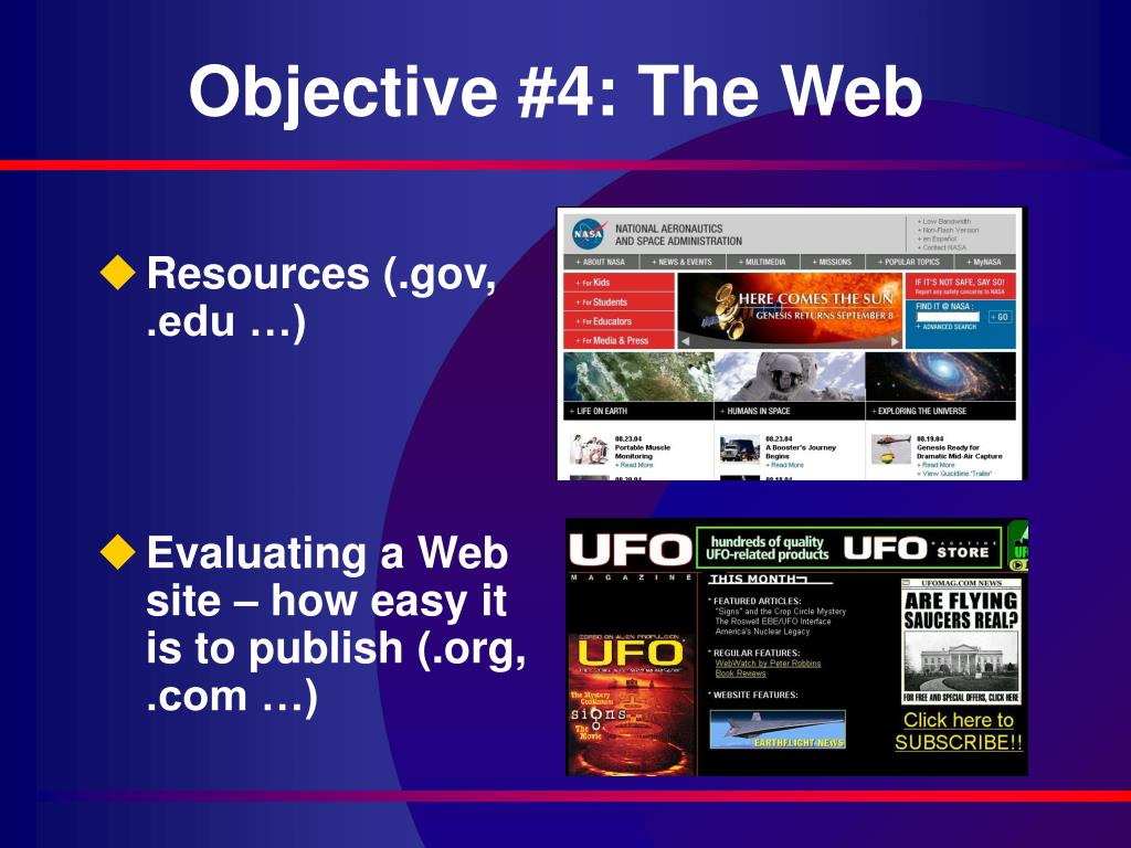 Objective #4: The Web