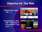 objective 4 the web