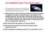 an abridged lecture tutorial example7