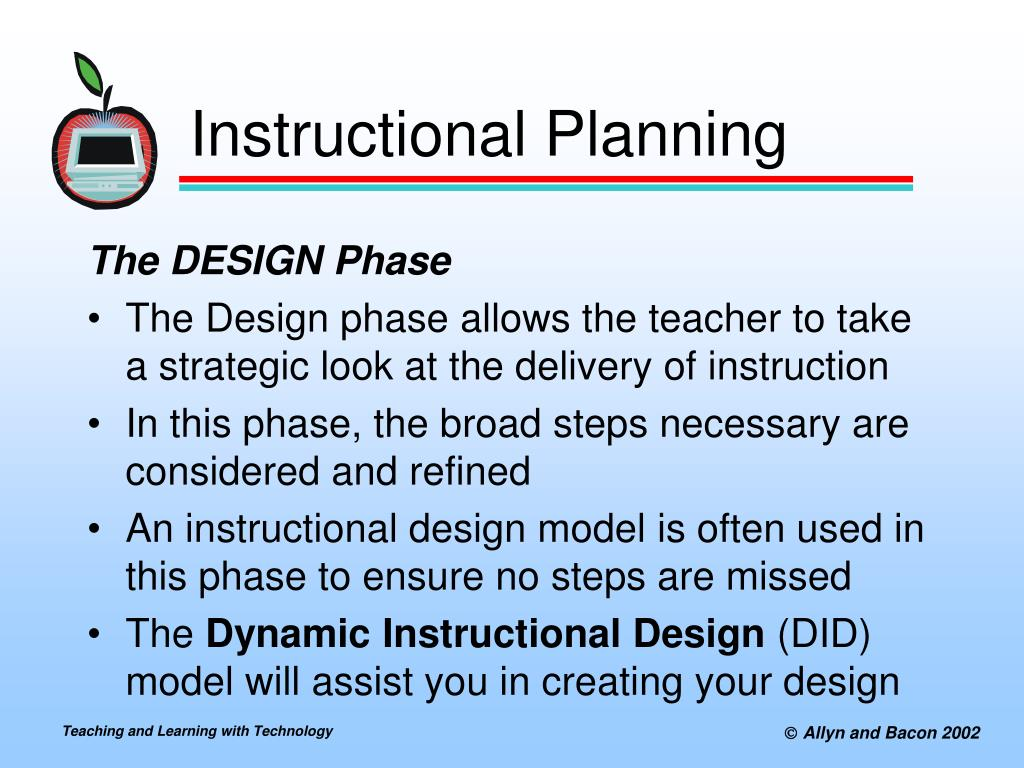 Ppt Designing And Planning Technology Enhanced Instruction Powerpoint Presentation Id 496541
