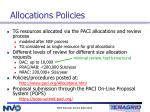 allocations policies