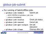 globus job submit