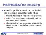 pipelined dataflow processing