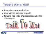 teragrid wants you
